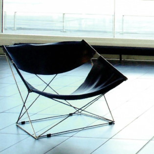 fauteuil noir Paulin