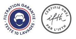 certifié par IFTH - 10 lavages