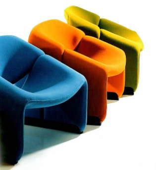 pierre paulin 3 fauteuils couleur