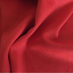 tissu manteau laine rouge