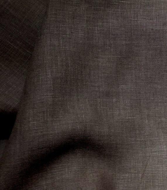 tissu en lin marron