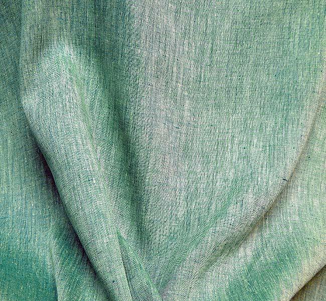 Bâche de tissu de vert chiné