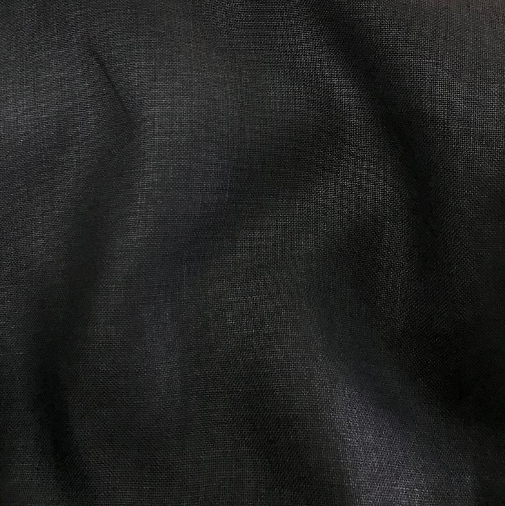 tissu lin noir de qualité