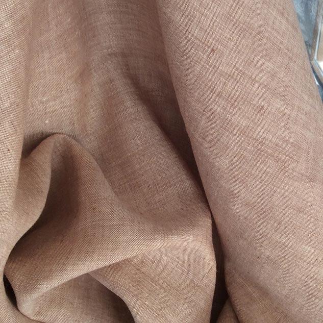 Bâche de tissu lin beige rosé