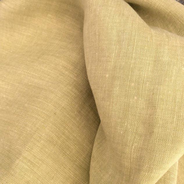 tissu vert en lin changeant