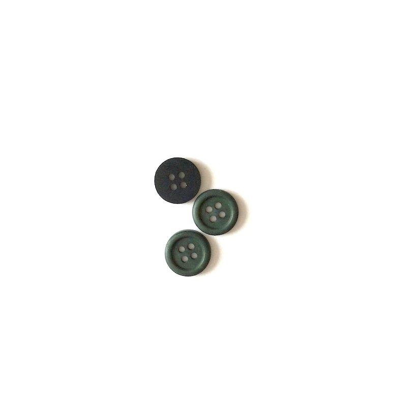 Bouton uni à quatre trous vert bronze
