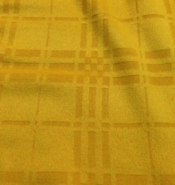 Cachemire drap de laine jaune gaufré