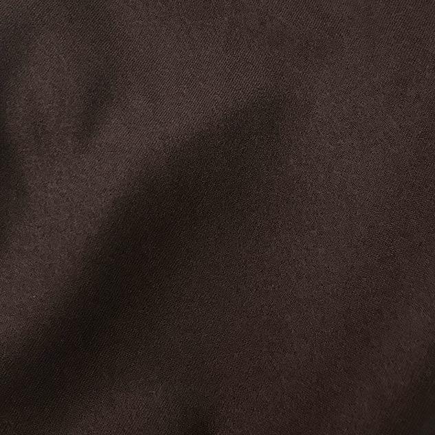 Tissu flanelle de laine marron
