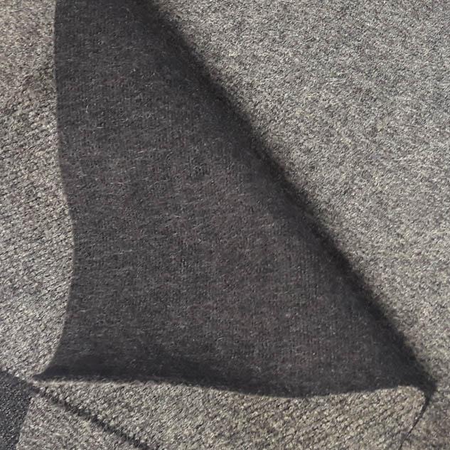 Drap de laine gris double face 2 tons