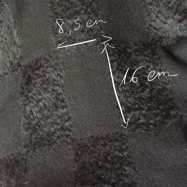 tissu noir à damier brillant