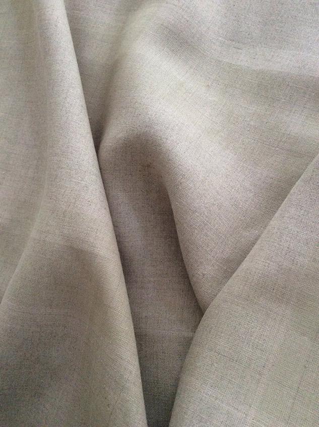 tissu beige brut lin