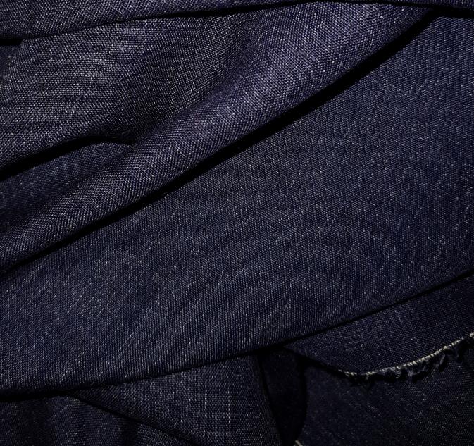tissu lin en jean
