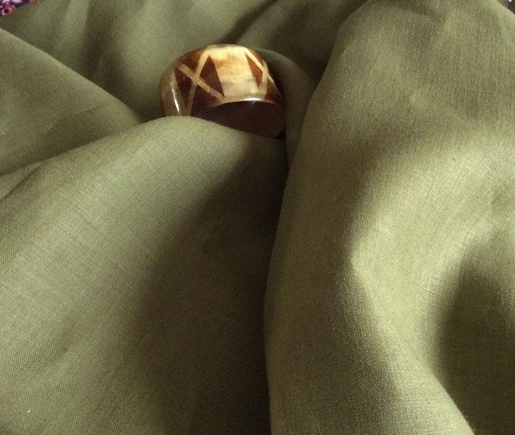Tissu pantalon kaki