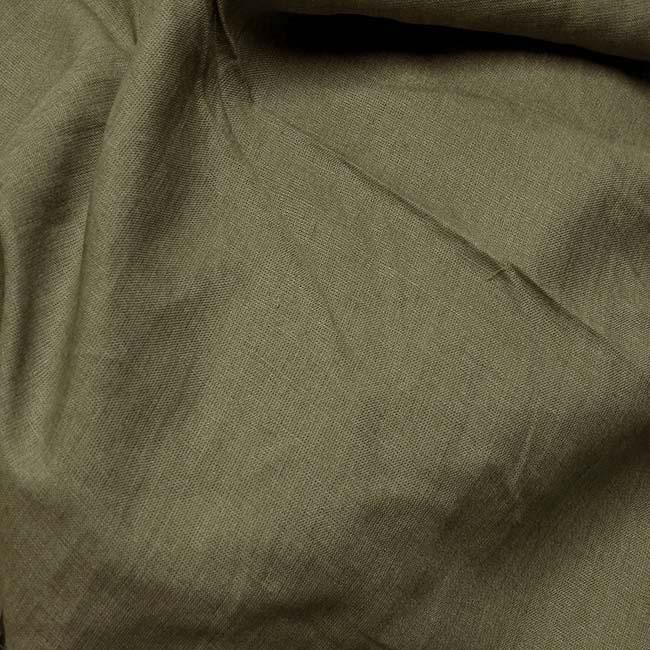 Tissu Toile de Lin Kaki