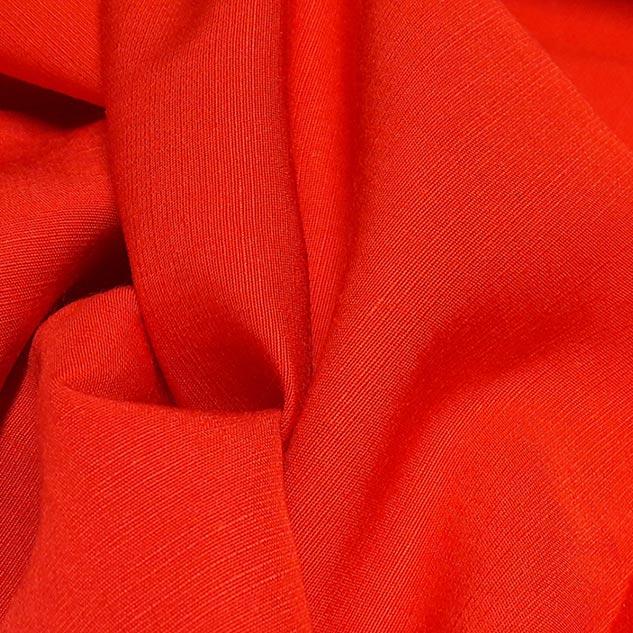 tissu viscose tissu rouge coquelicot