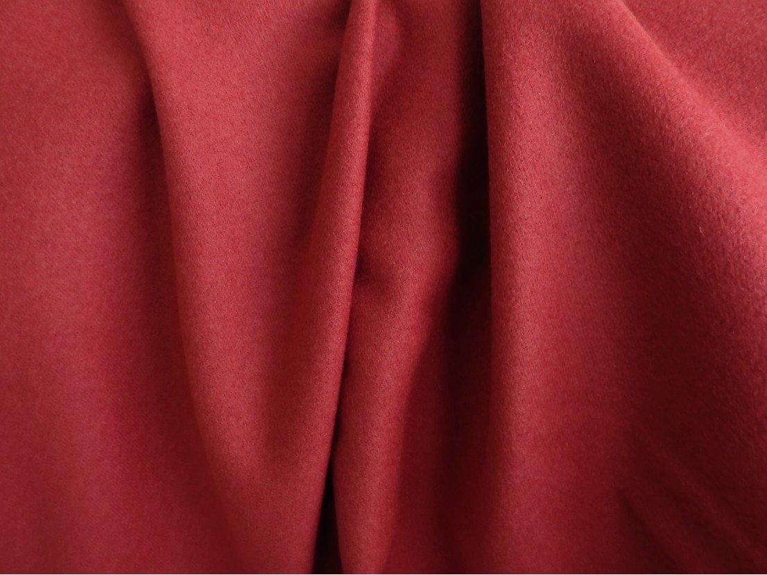 Poncho cachemire à poils couchés tissu au metre rouge