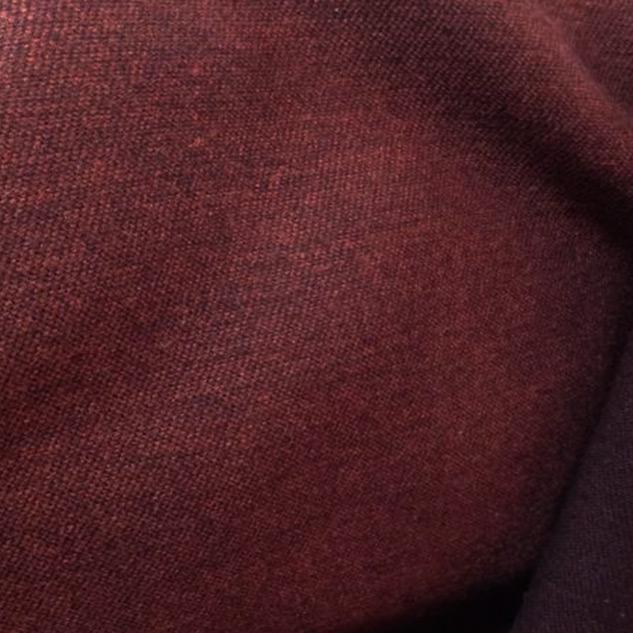 tete de lit tissu drap de laine bordeaux double face