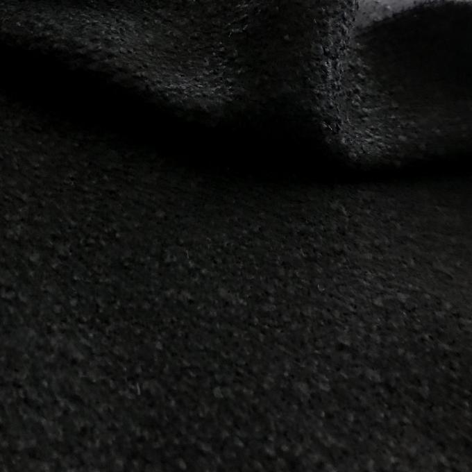 Tissu laine bouclettes noir
