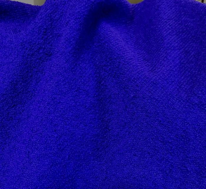 laine bouillie tissu bleu