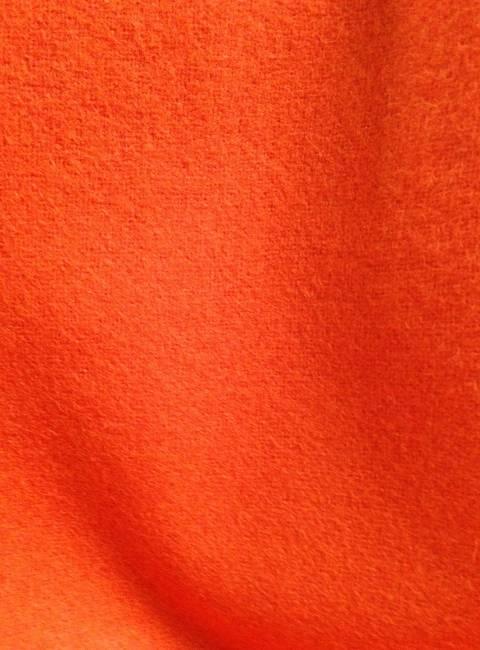 Drap de laine bouillie orange tissu au metre