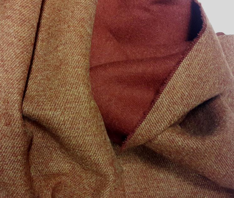 tissu double face marron