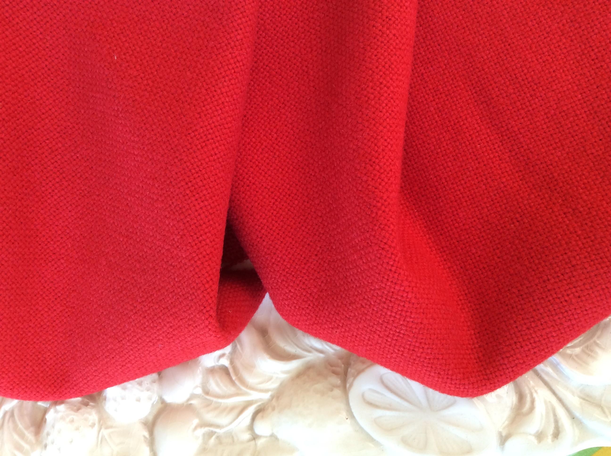 DRAP DE LAINE grosse toile M2 Rouge