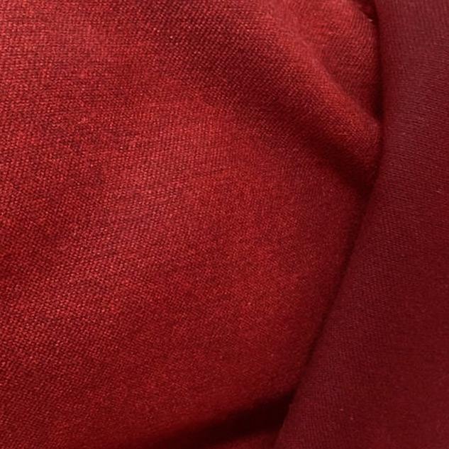 Drap de laine rouge double face 2 tons