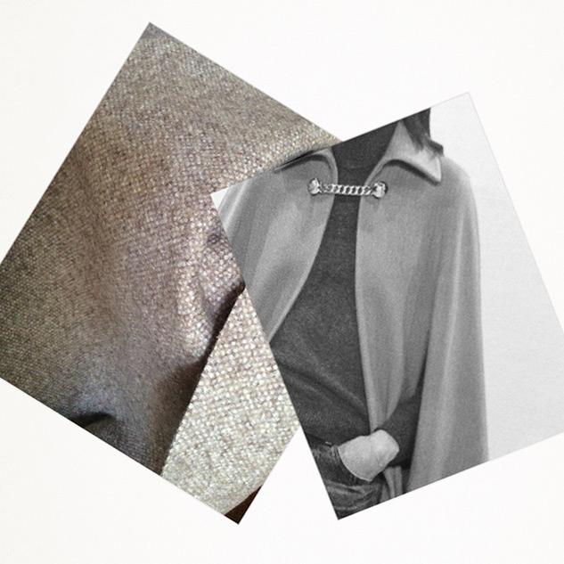 tissu manteau chiné