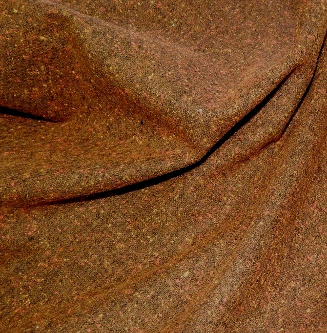 Drap de laine marron chiné