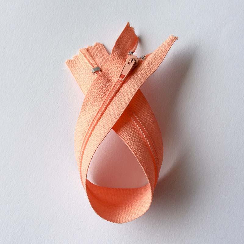 Fermeture à glissière curseur bloquant Rose Saumon