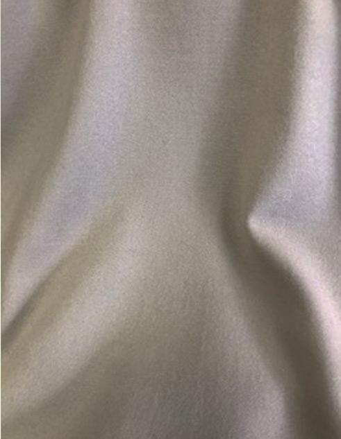 Tissu flanelle de laine peignée couleur sablé