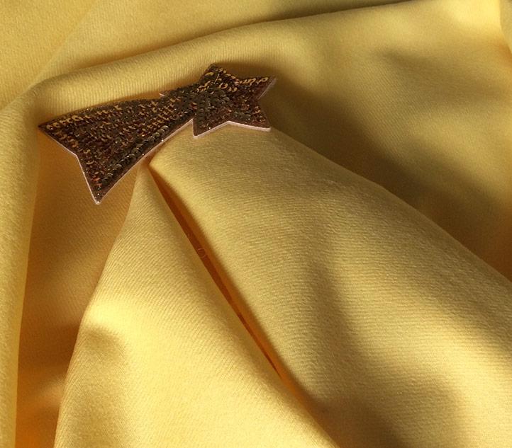 tissu jaune en laine pour veste