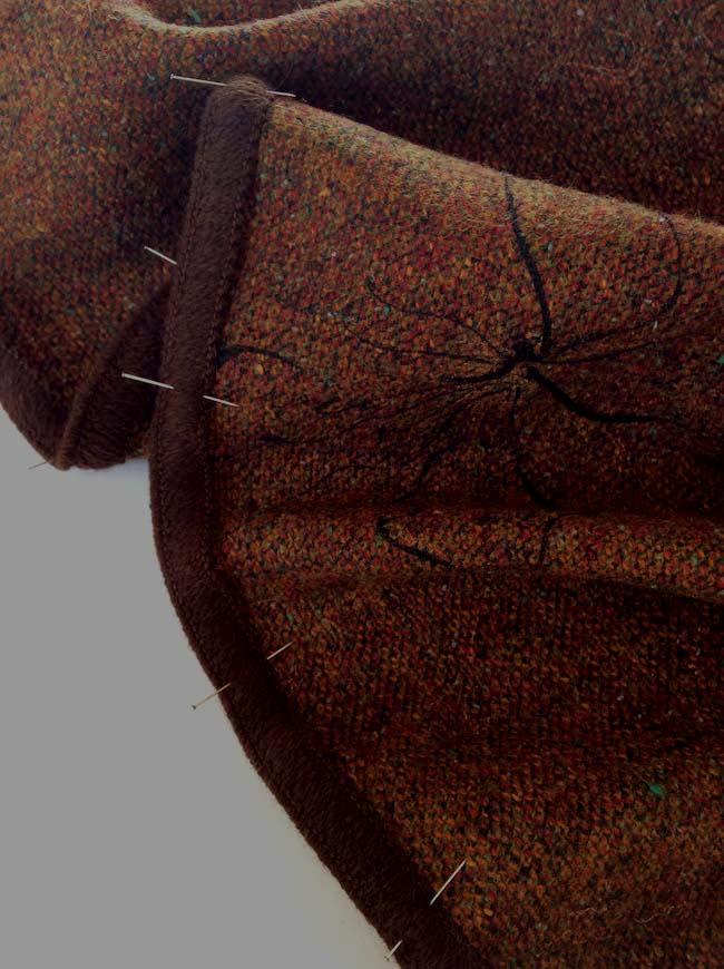 Ganse de laine marron