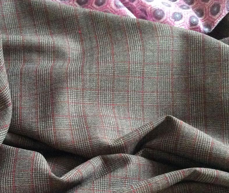 tissu prince galles gris