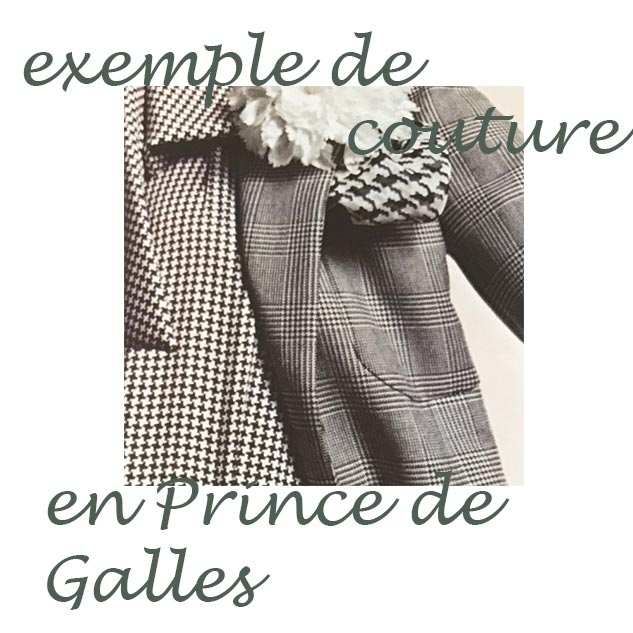exemple couture prince de galles