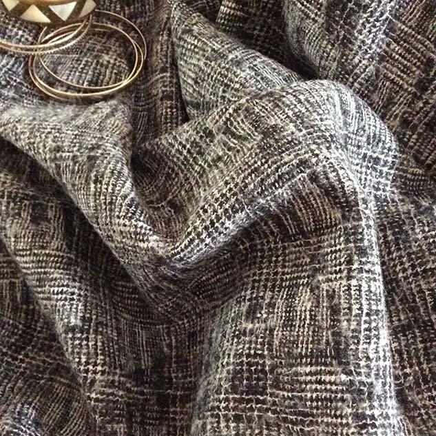 tweed motif noir et blanc
