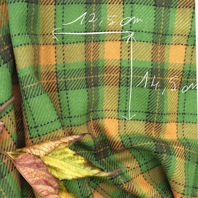 Shetland tissu vert et jaune