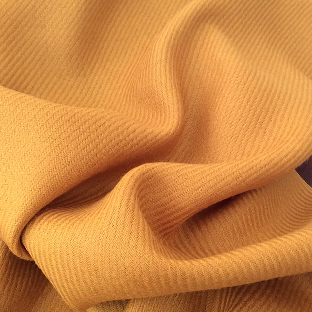 Shetland tissu jaune doré