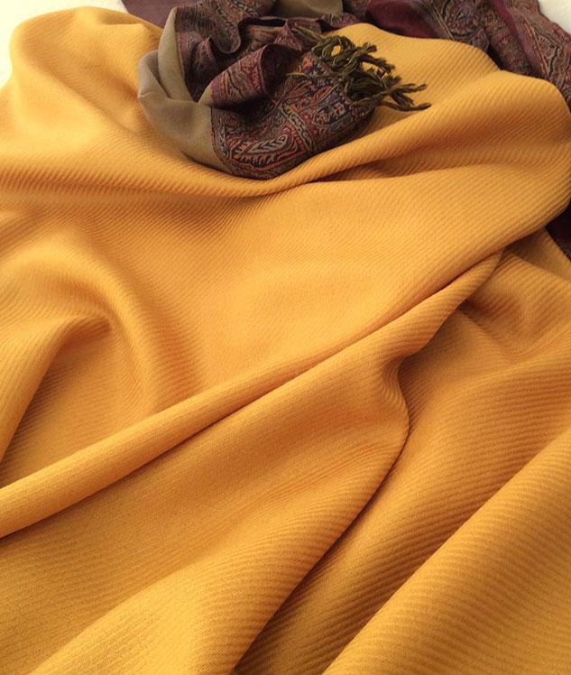 Tissu shetland tissu doré