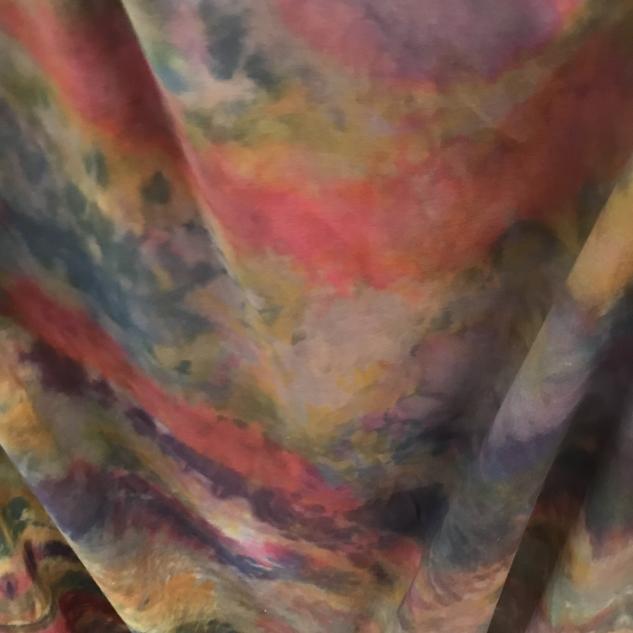 Tie and dye tissu multicolore tissu pour rideau voilage toile coton