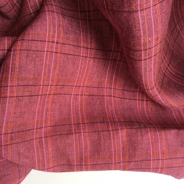 tissu a carreau tissu ecossais rose
