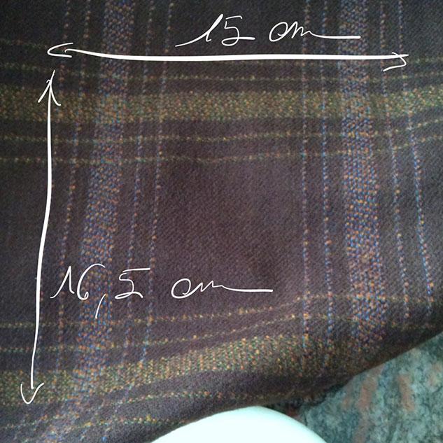 Tissu à carreaux vintage cardailhac