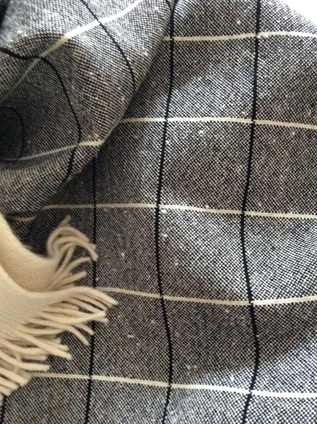 tissu à carreaux en laine