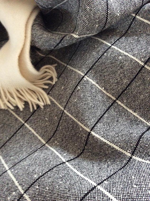 tissu chiné et à carreaux