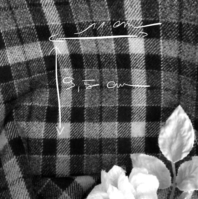 Tissu à carreaux ecossais