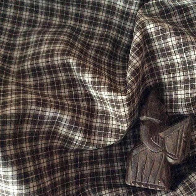Tissu pour nappe écru et marron