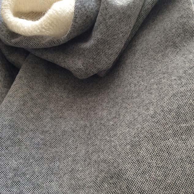 tissu chiné noir et blanc cardailhac