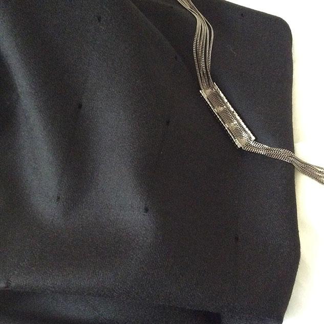 tissu flanelle noire