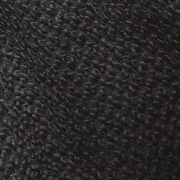 Tissu noir effet astrakan