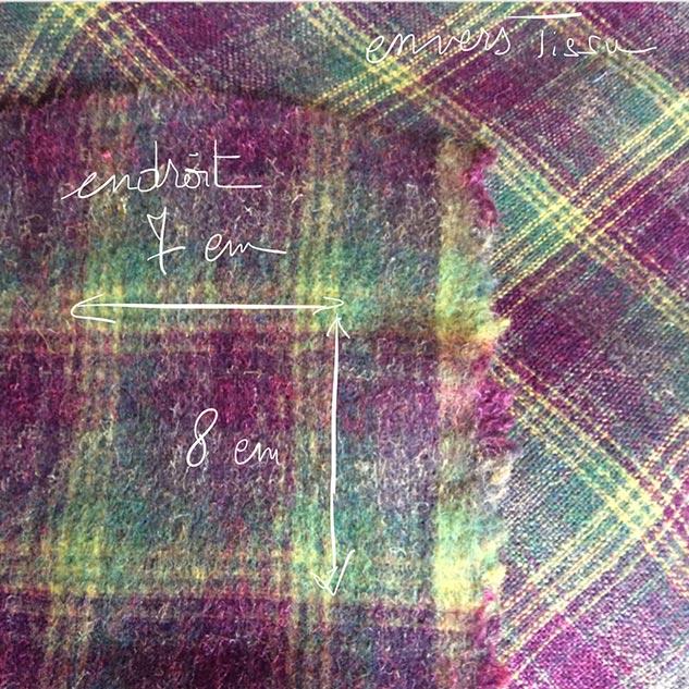 tissu écossais émerisé